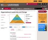 Organizational Leadership and Change, Summer 2009