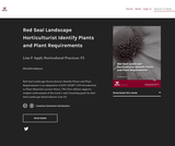 Red Seal Landscape Horticulturist Identify Plants and Plant Requirements