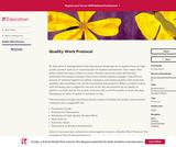 Quality Work Protocol