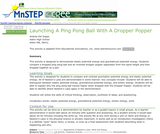 Launching a Ping Pong Ball with a Dropper Popper