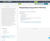 Refugee Scholar Primary Source Workshop