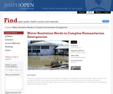 Water and Sanitation Needs in Complex Humanitarian Emergencies