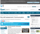 Key Skill Assessment: Communication