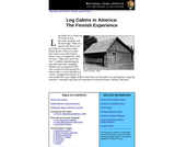Log Cabins in America: The Finnish Experience