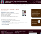 Genomics and Its Impact on Science and Society: The Human Genome Project and Beyond (2008)