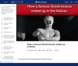 How a famous Greek bronze ended up in Rome