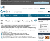 School Business Manager: Developing the Role
