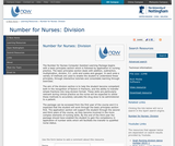 Number for Nurses: Division