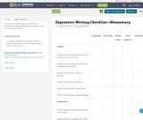 Expressive Writing Checklist—Elementary