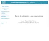 Curso de iniciación a las matemáticas
