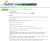 How To Grow The Tallest Plant