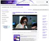 Using ePortfolios as a reflective teaching tool - Case study