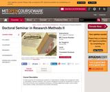 Doctoral Seminar in Research Methods II, Spring 2004