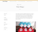 Teach Design: Three Things