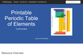 Periodic Table of Elements - Customizable and Printable