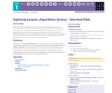 CS Principles 2019-2020 1.11.18: Algorithms Detour - Shortest Path