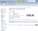 Data Quality: Out of Range Values