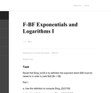 Exponentials and Logarithms I