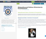 Helping Bereaved Children: 20 Activities for Processing Grief