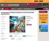 Computing and Data Analysis for Environmental Applications, Fall 2003
