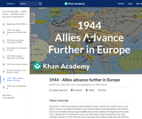 1944 - Allies advance further in Europe