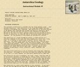 Antarctica Geology