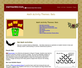 Math Activity Themes: Bats