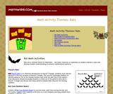 Math Activity Themes: Bats