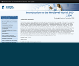 Introduction to the medieval world, 500-1500