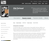 Old School by Tobias Wolff - Reader's Guide