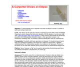 A Carpenter Draws an Ellipse