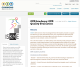 OER Academy: OER Quality Evaluation
