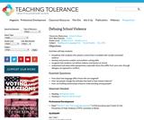 Defusing School Violence