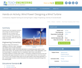 Wind Power! Designing a Wind Turbine
