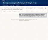 Foreign Language Achievement Tests (FLATS)