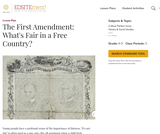 The First Amendment: What's Fair in a Free Country?