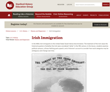 Reading Like a Historian: Irish Immigration