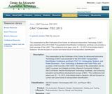 CAAT Overview: ITEC 2013