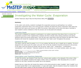 Investigating the Water Cycle: Evaporation