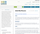 Adult ELL Phonics