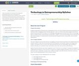 Technology in Entrepreneurship Syllabus