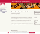 Common Core-Aligned Interventions for Adolescent Readers