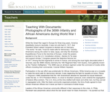 Photographs of the 369th Infantry and African Americans During World War I
