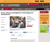 Cross-Cultural Investigations: Technology and Development, Fall 2012