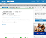 Consortium Toolkit for ULOs (Fusion)