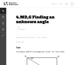 Finding an   Unknown Angle