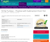 10 Fat Turkeys ‰лв Practice with Subtraction From Ten