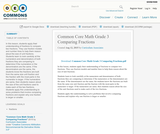 Common Core Math Grade 3 Comparing Fractions
