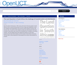 The Land Question in South Africa:The challenge of transformation and distribution