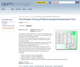 The Problem Solving Profile Evaluation/Assessment Tool